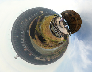 Itaipu - Vista da Barragem - Versao Little Planet