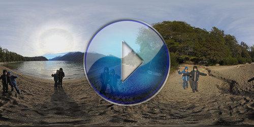 Panorâmica Imersiva na Praia no Lago Correntoso