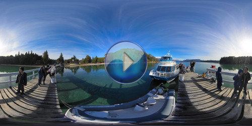 Pier em Vila la Angostura em 360°