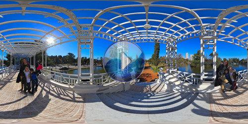 Plaza Holanda e Planetário, Buenos Aires em foto 360