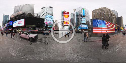 Navegue na Times Square em foto 360°