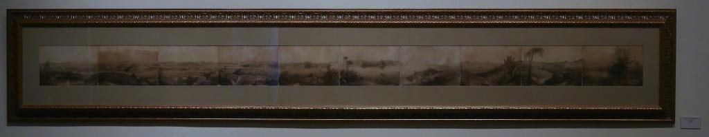 Panorâmica em Litografia de James Dickson - séc XVIII - Rio de Janeiro