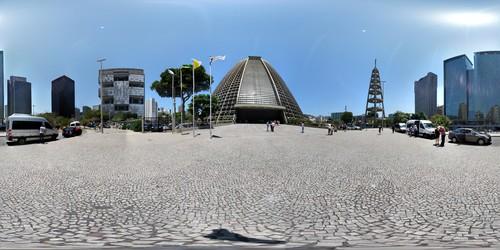 Panorâmica esférica da Catedral de São Sebastião no RJ