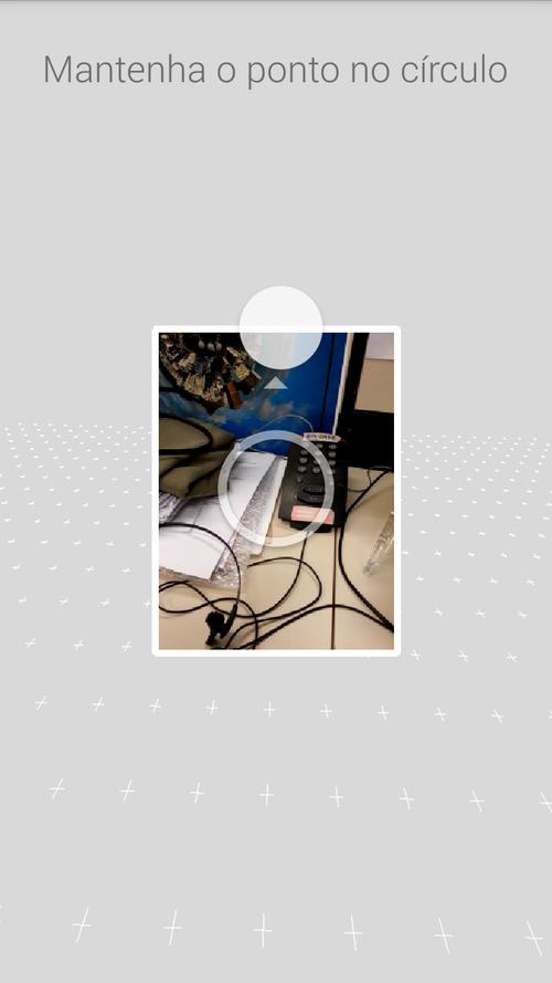 Foto esférica com bola branca orientadora