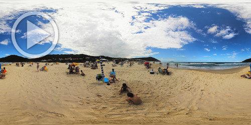 Praia Brava em panorama 360°
