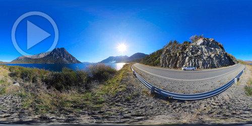 Lago Nahuei Huapi em 360x180°