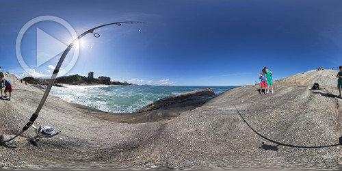 Pescando em 360° no Arpoador