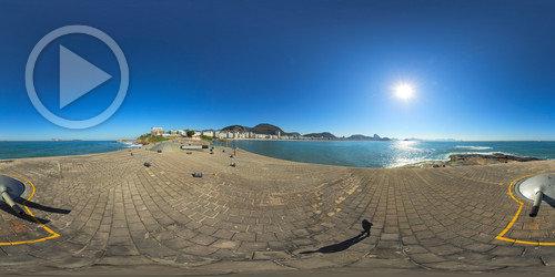 Canhões do Forte de Copacabana em 360°