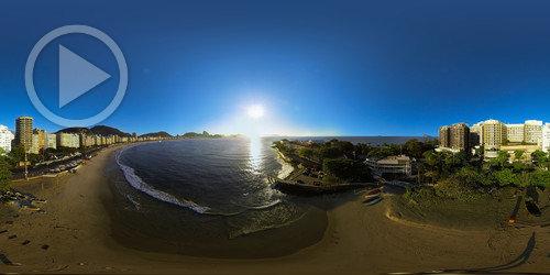 Forte de Copacabana em Aérea 360°