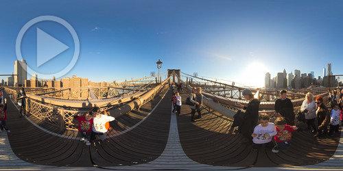 Ponte do Brooklin em Panorâmica 360°