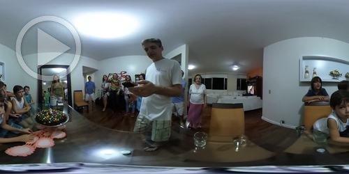 Parabéns em vídeo 360°