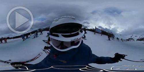 Vídeo esquiando em 360°