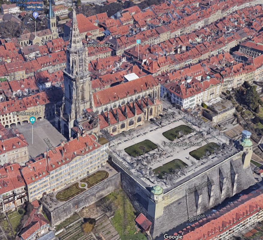 Visão 3D no google do terraço