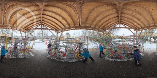 Pistas de bola no Gurten Park em 360°