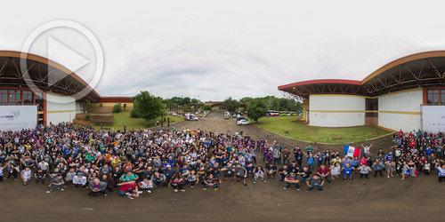 Latinoware, foto oficial em 360°